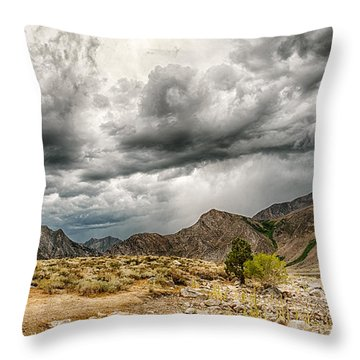 Dark Skies At Grant Lake Throw Pillow
