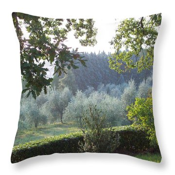Dawn In Loppiano Throw Pillow