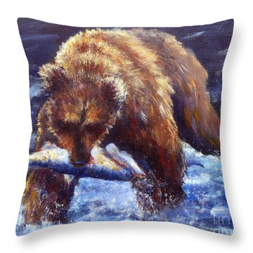 Day's Catch Throw Pillow