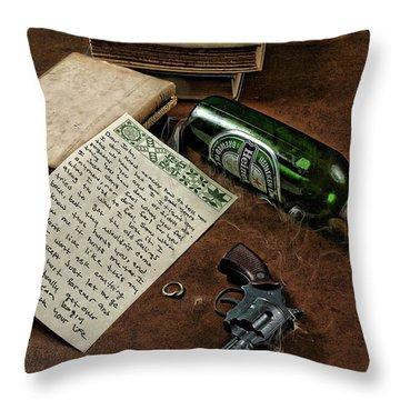 Dear John Throw Pillow by Camille Lopez