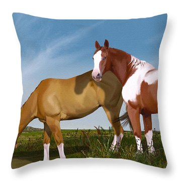 Destiny On Buffalo Plateau Throw Pillow