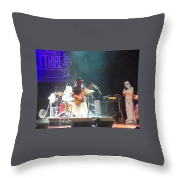 Throw Pillow featuring the photograph Devon Allman And The Honeytribe by Kelly Awad