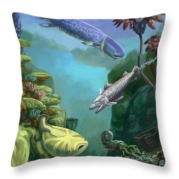Devonian Period Throw Pillow