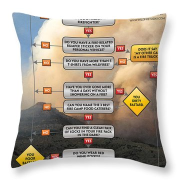 Diagnosing Wildland Firefighter Disease Throw Pillow