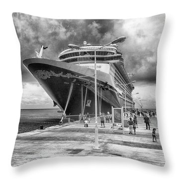 Throw Pillow featuring the photograph Disney Fantasy by Howard Salmon