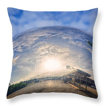 Distorted Reflection Throw Pillow by Sennie Pierson