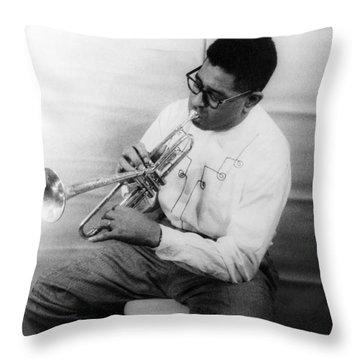 Dizzy Gillespie (1917-1993) Throw Pillow by Granger
