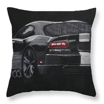 Dodge Viper 1 Throw Pillow