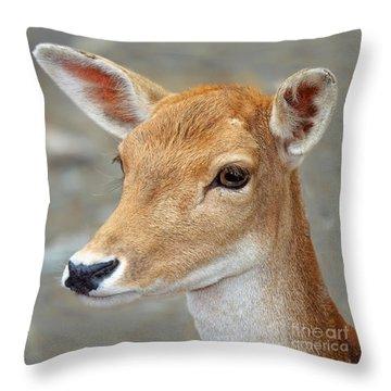 Doe Eyes Throw Pillow