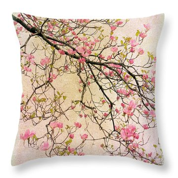 Dogwood Canvas 2 Throw Pillow