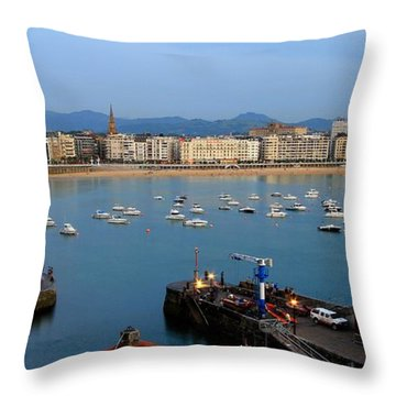 Throw Pillow featuring the photograph Donostia 2016 by Mariusz Czajkowski