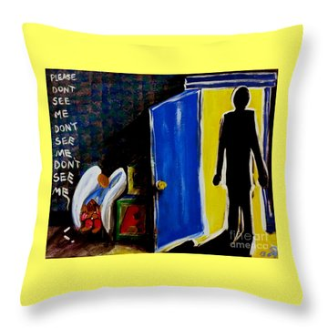 Don't See Me Throw Pillow by Jackie Carpenter