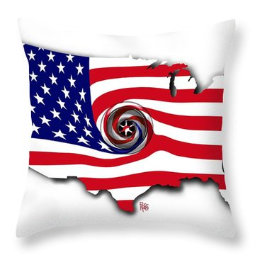 Down The Drain Throw Pillow