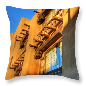 Downtown Santa Fe Throw Pillow