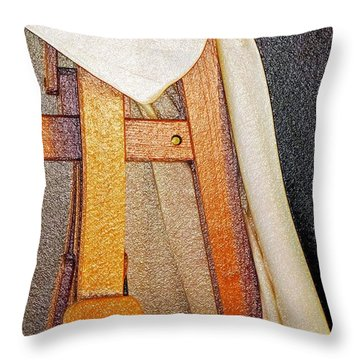 Draped Easel Throw Pillow