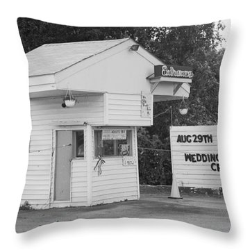Drive-in Theater Throw Pillow by Frank Romeo