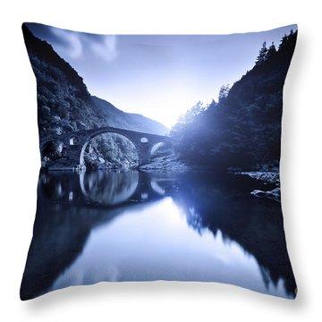 Dyavolski Most Arch Bridge Throw Pillow by Evgeny Kuklev