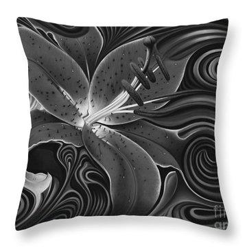 Dynamic Red Throw Pillow by Ricardo Chavez-Mendez