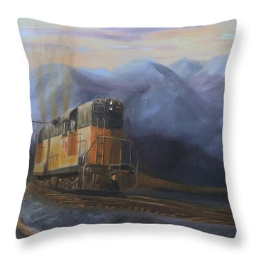 East Of The Belt Range Throw Pillow by Christopher Jenkins