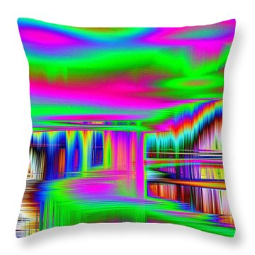 Throw Pillow featuring the photograph Echo by Nick David
