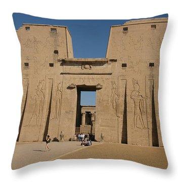 Edfu Temple Throw Pillow