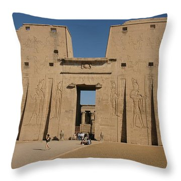 Edfu Temple Throw Pillow