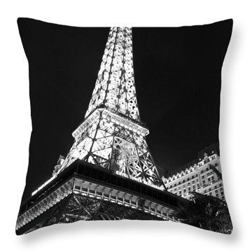 Throw Pillow featuring the photograph Eiffel Tower by Kevin Ashley