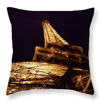 Eiffel Tower Paris France Throw Pillow by Patricia Awapara