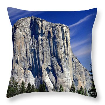 El Capitan Yosemite National Park Throw Pillow by Bob and Nadine Johnston