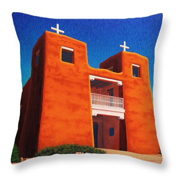El Corazon Sagrado Throw Pillow