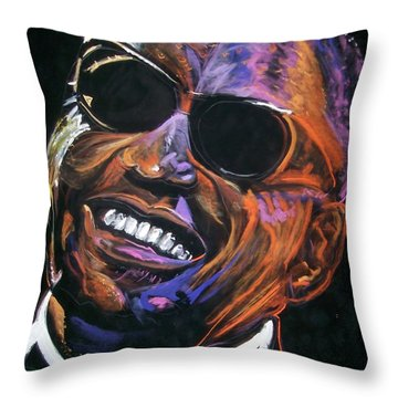 electric Ray Charles Throw Pillow