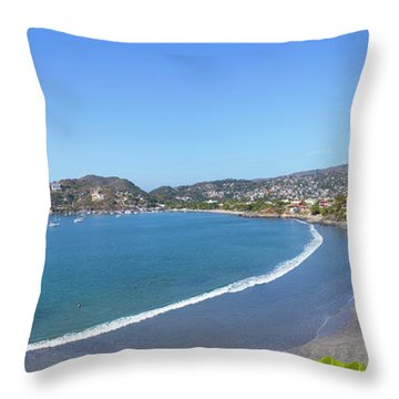 Elevated View Of The Playa La Madera Throw Pillow