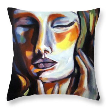 Throw Pillow featuring the painting Emotion by Helena Wierzbicki