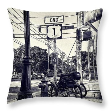 End Of The Road Throw Pillow by Pamela Blizzard