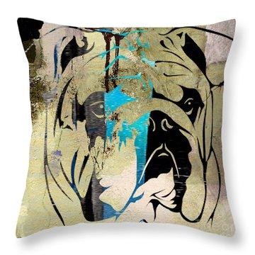 English Bulldog Throw Pillow by Marvin Blaine