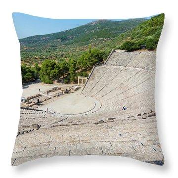 Epidaurus, Argolis, Peloponnese Throw Pillow