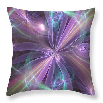 Ethereal Flower In Violet Throw Pillow