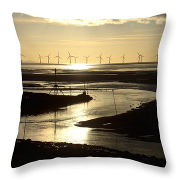 Evening Low Tide  Throw Pillow