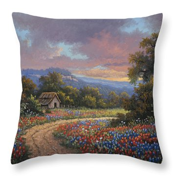 Throw Pillow featuring the painting Evening Medley by Kyle Wood