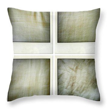 Fabrics Throw Pillow by Les Cunliffe