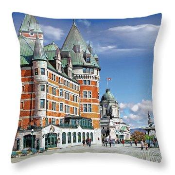 Fairmont Le Chateau Frontenac Series 01 Throw Pillow