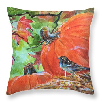 Fall Is Here Throw Pillow by Jieming Wang