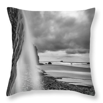 Falling Into The Sea Throw Pillow
