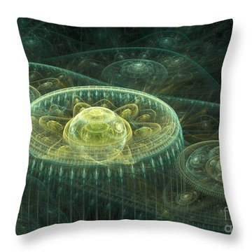 Fantasy Landscape Throw Pillow by Martin Capek