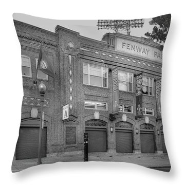 Fenway Park - Best Of Boston Throw Pillow by Susan Candelario
