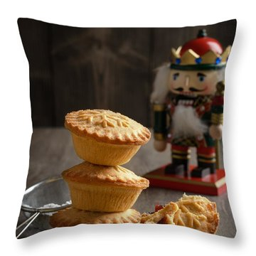 Festive Mince Pies Throw Pillow