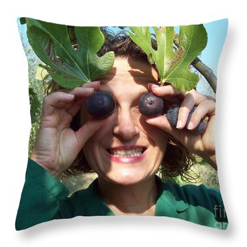 Fig's Harvest In Loppiano Throw Pillow