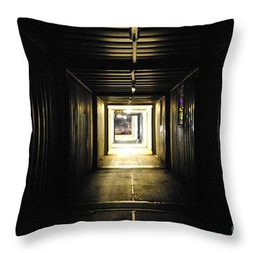 Throw Pillow featuring the photograph Final Exit by Maja Sokolowska