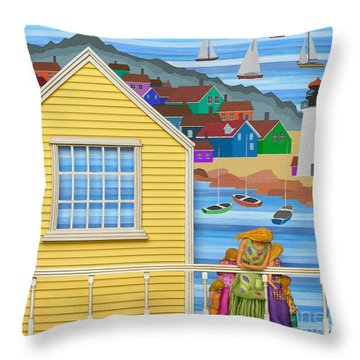 Finally Home Throw Pillow by Anne Klar