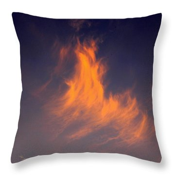 Throw Pillow featuring the photograph Fire In The Sky by Jeanette C Landstrom